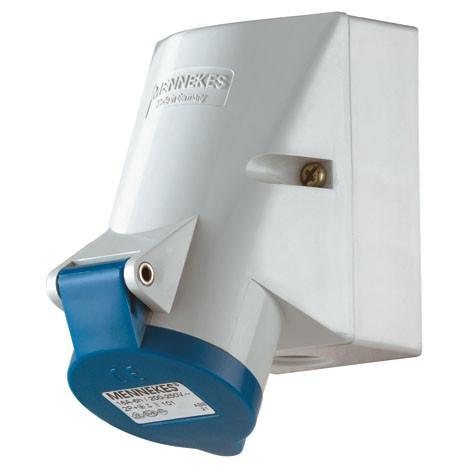 ปลั๊กตัวเมียติดผนัง IP44 63Amp ขั้ว 2+E 230V