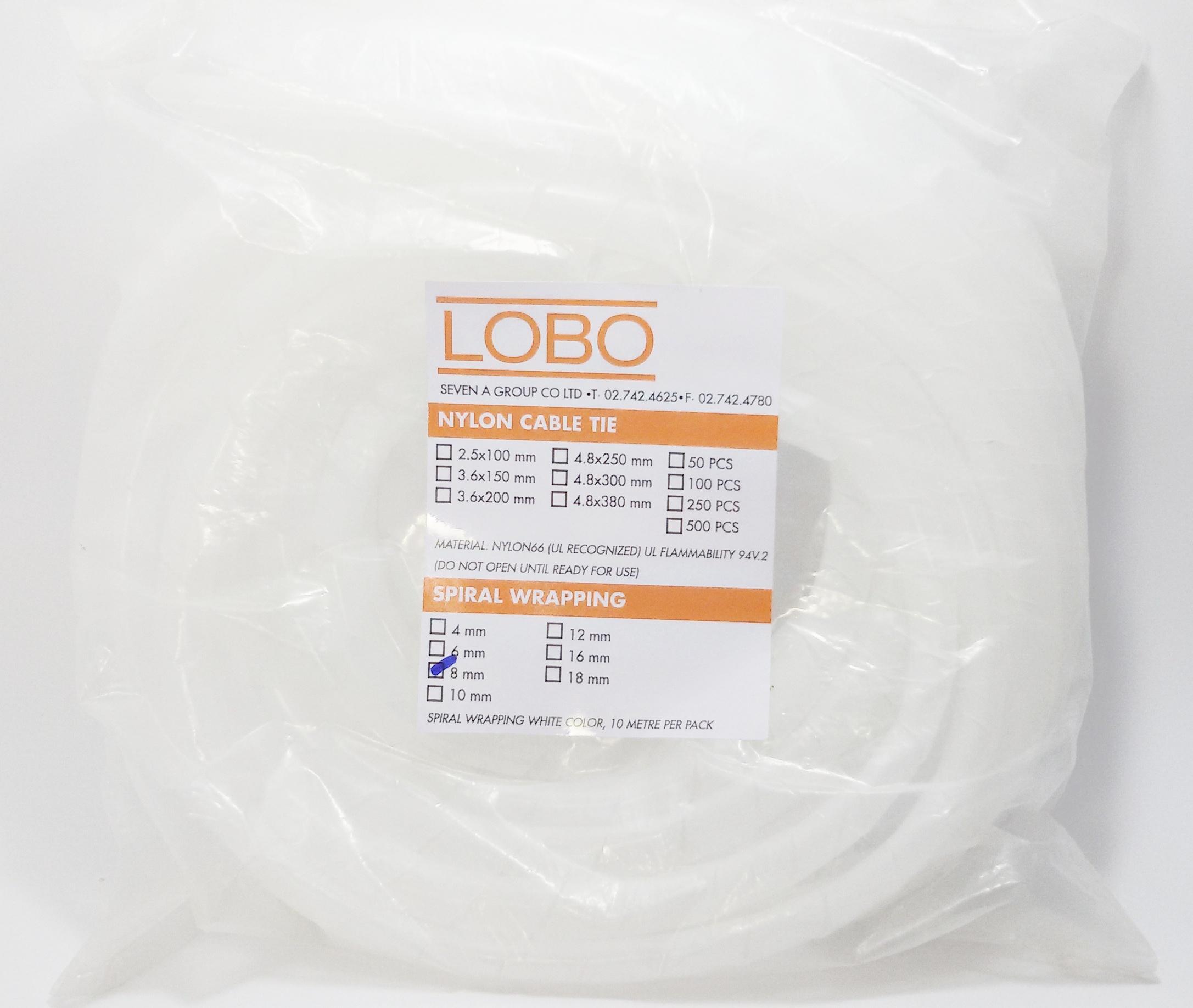 LOBO SPIRAL WRAPPING 8 mm ( ไส้ไก่เก็บสายไฟ )