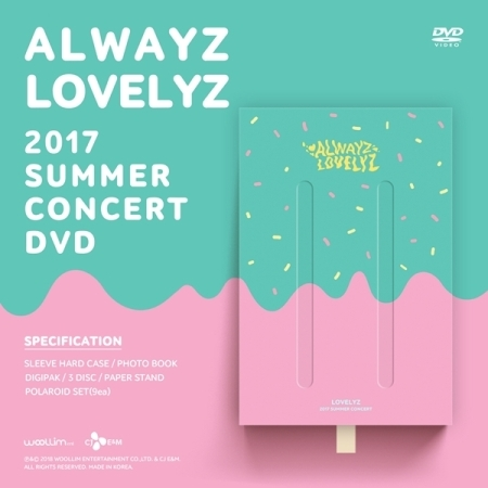 Lovelyz - 2017 SUMMER CONCERT ALWAYZ แบบ DVD