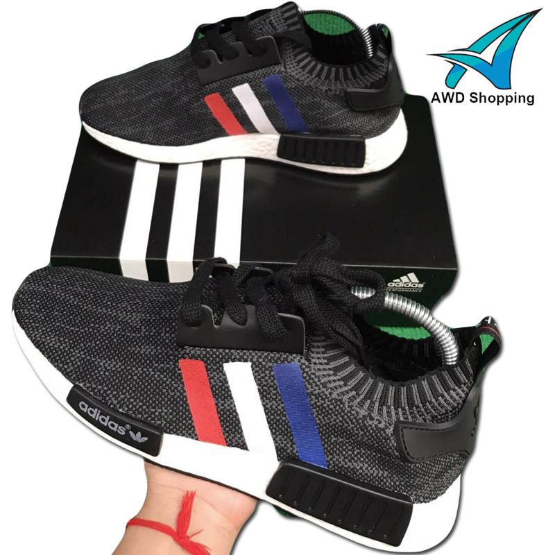 รองเท้าผ้าใบ Adidas NMD TOP ขีด แดง ขาว น้ำเงิน