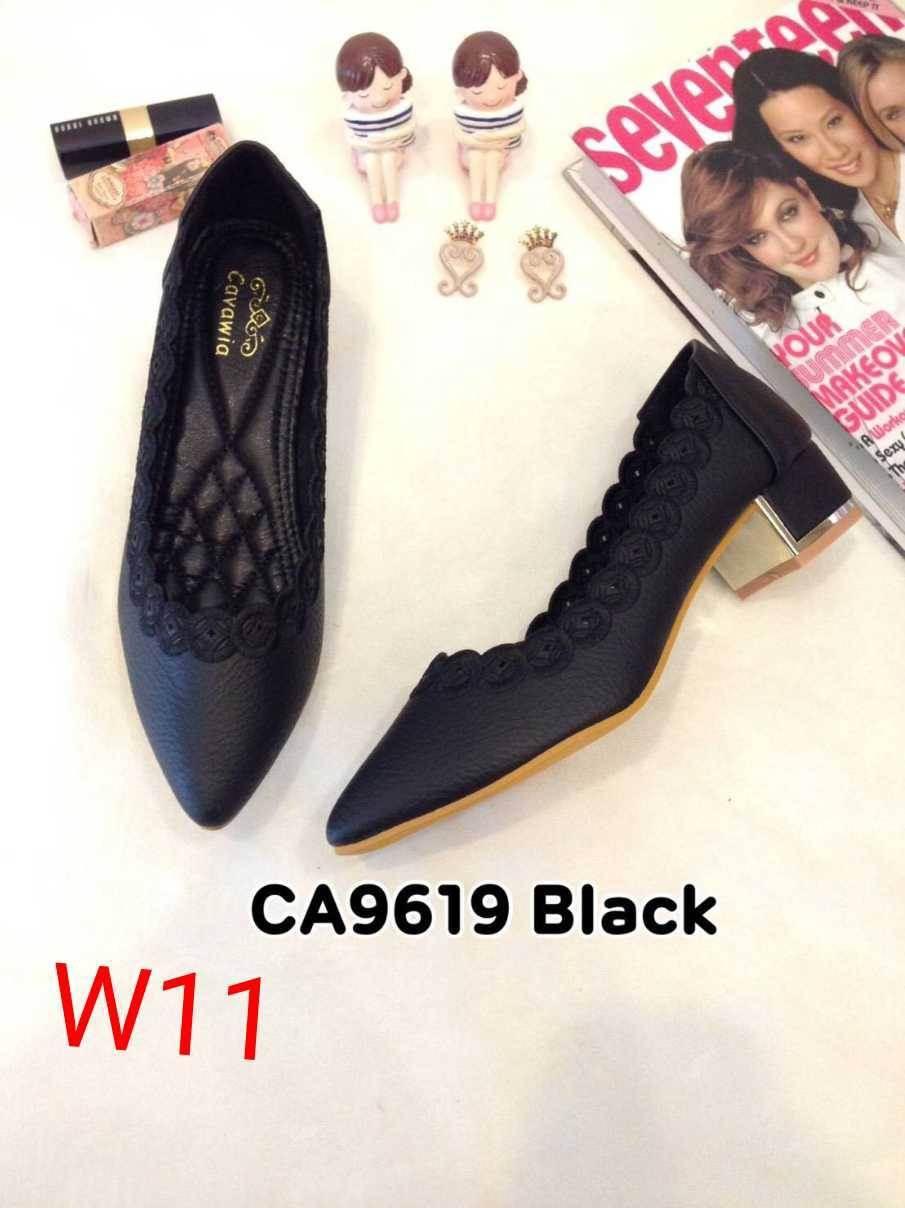 รองเท้าแฟชั่น Ca9619 สีดำ / สีชมพู่