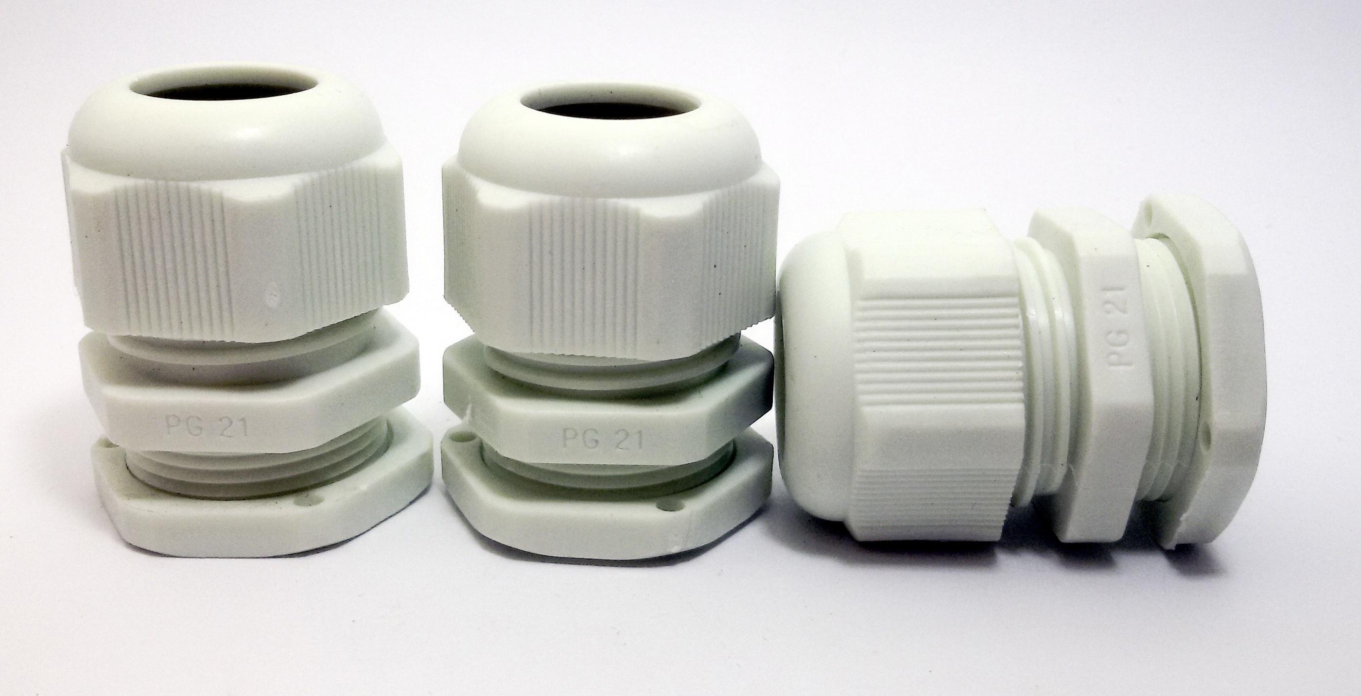 LOBO ELECTRIC CABLE GLAND PG21 13 -18 mm. สีขาว