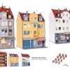 Kibri38998 set of 3 townhouse