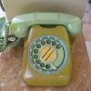 โทรศัพท์เก่า ของเดิมสีเขียว