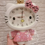 PRE-ORDER---Hello kitty นาฬิกาแขวนผนังคิตตี้ งานแฮนด์เมด น่ารักมากค่ะ ตัวใหญ่ สูง 40 CM สินค้านำเข้า