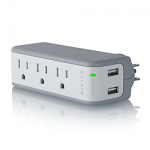 Belkin ปลั๊กรางพกพา mini surge protector with USB charger