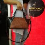 กระเป๋าถือหนังจระเข้แท้ สีน้ำตาลเข้ม รหัส CRW1217W-10-BR