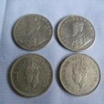 เหรียญเงินรูปีที่นำมาใช้ในล้านนา รูป King George ที่ 5 และ ที่ 6