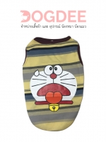 เสื้อยืดแขนกุดน้องหมา น้องแมว ลายการ์ตูนโดเรม่อน เบอร์ 6