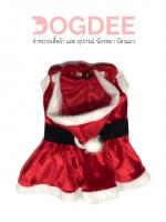 ชุดแฟนซี น้องหมา น้องแมว ซานตาคลอสหญิงสีแดง