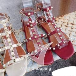 รองเท้าแฟชั่นผู้หญิง (รัดข้อ) สีแดง / สีขาว /สีดำ / สีชมพู