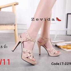 รองเท้าแฟชั่น Zevida ส้นสูง 4.5นิ้ว