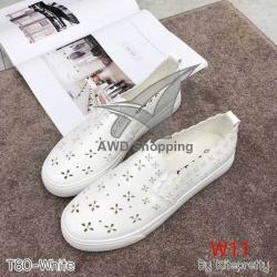 รองเท้าแฟชั่น หุ้มส้น Kitepretty (T70-white)