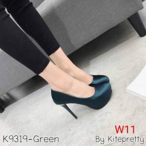 รองเท้าแฟชั่น ส้นสูง By Kitepretty สีเขียว / สีครีม / สีน้ำเงิน