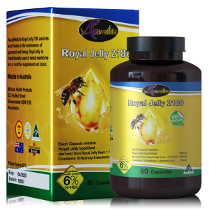 นมผึ้ง Auswelllife Royal Jelly 2180 mg