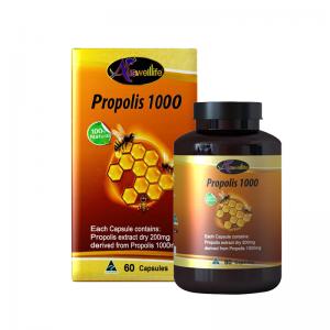 อาหารเสริม Propolis 1000 Auswelllife Premium (พรอพเพอริส) 60 เม็ด