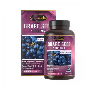 อาหารเสริมเมล็ดองุ่น Auswelllife Grape Seed (สารสกัดเมล็ดองุ่น) 60 เม็ด