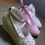 รองเท้าแฟชั่นผู้หญิง สีขาว/สีชมพู/สีน้ำตาล thumbnail 1