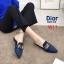 รองเท้าแฟชั่นผู้หญิง พื้นเลียบ หัวแหลม สีน้ำตาล / สีเทา / สีดำ / สีน้ำเงิน thumbnail 3