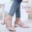 รองเท้าแฟชั่น ZARA สีดำ / สีทอง / สีชมพู thumbnail 3