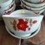 ถ้วยข้าวหรือถ้วยแบ่งซุป เนื้อกระเบื้องขอบทองลายดอกไม้ งานเก่าค้างร้าน เนื้อบางสวย