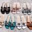 รองเท้าแตะแฟชั่น (ผู้หญิง) สีดำ / สีชมพู / สีเทา / สีครีม / สีฟ้าทะเล / สีขาว