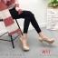 รองเท้าแฟชั่น ส้นสูง By Kitepretty สีเขียว / สีครีม / สีน้ำเงิน thumbnail 4