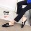 รองเท้าแฟชั่นผู้หญิง พื้นเลียบ หัวแหลม สีน้ำตาล / สีเทา / สีดำ / สีน้ำเงิน thumbnail 6