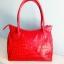กระเป๋าถือหนังจระเข้แท้ สีแดง รหัส CRW1217H-05-RE