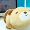 SC0015 Free ปักชื่อบนผ้าห่ม!! ตุ๊กตาหมอนผ้าห่มน้องน้องหมีสีน้ำตาล น่ารักมากๆ นุ่มนิ่มน่ากอดสุด