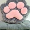 SC0012 Free ปักชื่อบนผ้าห่ม!! ตุ๊กตาหมอนผ้าห่มรูปเท้าแมว สีเทา ฟุ้งฟิ้ง