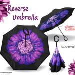 ร่มกลับด้านลายดอกไม้ (Reverse Umbrella)